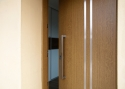 ADLO - Security door ARDEN, Termo exterior, atypical slat, Anticoro slats, vertical fitting - door pull
