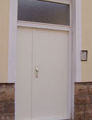 ADLO double-wing security door ARDEN, full with skylight, unit dimensions 140/260cm